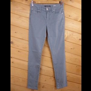 Level 99 Anthropologie 27 Mid Rise Lily Jeans Gray